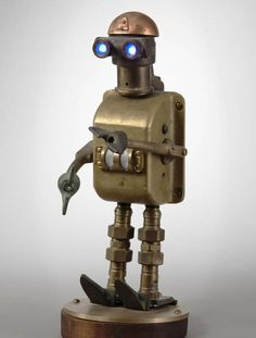 Scrap metal gets new life as robot night lights