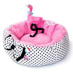 Flamingo Dog Bed And Toy – Bark Label