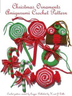 Free Crochet Christmas Ornament Patterns | Sayjai's Pattern Store : Amigurumi Patterns from K and J Dolls