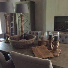 Shabby, Wooden Bowls, French Decor, Minimalist Living, Rustic Interiors, Wood Table, Coastal Decor, Home Decor Inspiration, Modern Rustic