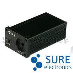 Fullaluminum DIY black chassis amplifier case enclosure headphone Cabinet DAC box 132mm x 74.6mm x 49mm | #HeadphoneCase