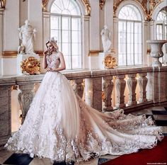 """If you can believe in a fairytale, you can face the future."" ~ Danielle Steel ~ Glorious bridal gown designed by 💫 🕊🌸✨☁️🔮🌙🔑🌸 … 💫 Source Gorgeous Wedding Dress, Dream Wedding Dresses, Beautiful Bride, Bridal Dresses, Beautiful Dresses, Wedding Gowns, Wedding Tags, Fairytale Gown, Fairy Dress"