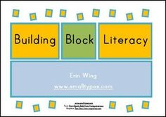 Free printable labels to print and attach to Mega Bloks or other bricks. Students can build words and sentences.