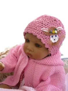 Pink  hat cloche hat toddler hat babyhat by AnnabellesWardrobe, £8.00