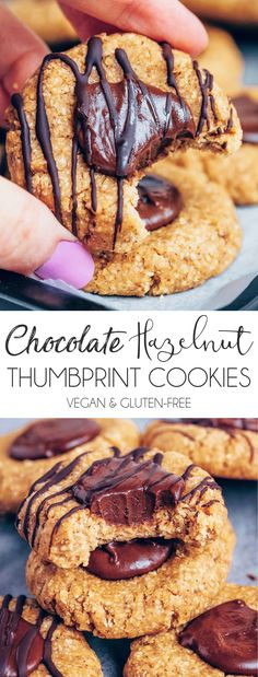 Chocolate Thumbprint Cookies (No-Bake, Vegan & Gluten-free) - UK Health Blog - Nadia's Healthy Kitchen