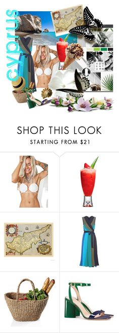 """cyprus🌞kıbrıs"" by gulokmini ❤ liked on Polyvore featuring Garden House, Margarita Mermaid, Diane Von Furstenberg, Tory Burch and Chanel"