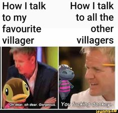 animal crossing memes How I talk How I talk to my - animals Animal Crossing Funny, Animal Crossing Pocket Camp, Animal Crossing Villagers, Stupid Memes, Funny Memes, Hilarious, Ukulele, Video Game Memes, Gaming Memes