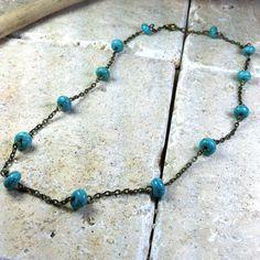Jovial Jamboree Necklace gemstone  turquoise by MySoulCanDance.etsy.com