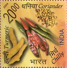 India Post - 2009 - SPICES OF INDIA  Coriander  Chilly