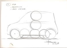 Luciano Bove's tutorial for a side view car sketch. A step-by-step tutorial from line drawing proportions to quick shading. Car Design Sketch, Car Sketch, Human Drawing, Line Drawing, Drawing Proportions, Car Side View, The Art Of Storytelling, Sketching Techniques, Mountain Drawing