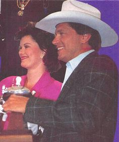 K.T Oslin and George Strait