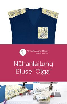 "Nähanleitung für die Bluse ""Olga"""