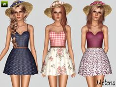 Country Song dress by Metens - Sims 3 Downloads CC Caboodle