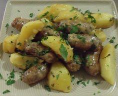 Hinojo Salchichas con limón Patatas