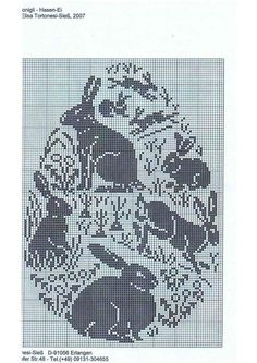BUNNY BUNNY BUNNY (no color chart available, just use pattern chart as your color guide... or choose your own colors)