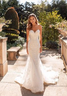 Val Stefani Wedding Dresses, Fall Wedding Dresses, Elegant Wedding Dress, Elegant Dresses, Bridal Dresses, Strapless Wedding Dresses, Bridesmaid Gowns, Summer Wedding, Trumpet Wedding Dresses