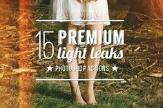 15 Premium Light Leak Actions by ZedProMedia on Creative Market