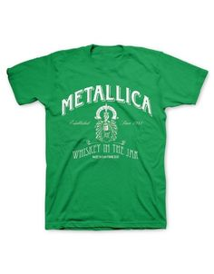 Metallica Green Whiskey In The Jar Mens T-Shirt - Guaranteed Authentic.  Fast Shipping.