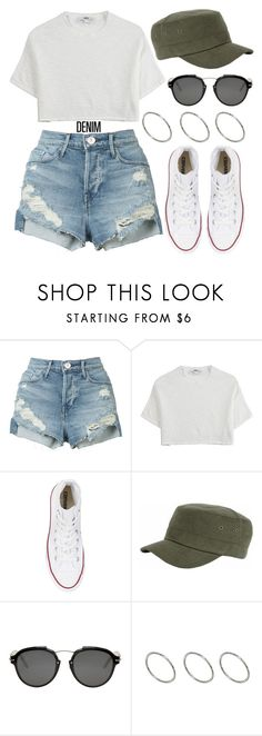 """""""1346."""" by asoul4 ❤ liked on Polyvore featuring 3x1, Hope, Converse, Christian Dior, ASOS, casual and DENIMCUTOFFS"""
