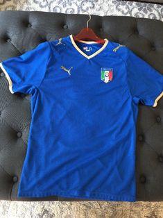 e5da5516a Puma Italy Italia Soccer Shirt World Cup Jersey Blue Mens Small S  puma   Italy