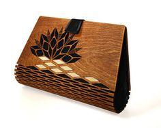 Madera embrague, embrague de seda, noche embrague, bolso madera, embrague moderno, gran idea del regalo, bolso de madera, moderno