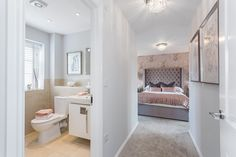 The beauty of this home is the fact that your bathroom suite is right next door! Kings Home, Next Door, New Homes For Sale, New Builds, Luxury Homes, Bathtub, Interiors, Bathroom, House
