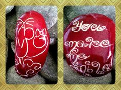 Maus/Mice You make me smile Bemalter Stein/painted stone made by Kathleen Podzorsky