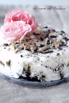 ice cream cake with licorice