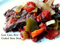 Low Carb Slow Cooker Spicy Swiss Steak Recipe (phase 1, induction) - 4 net carbs per serving