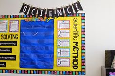 Teacher Week Day 2 Classroom Digs! - Tunstall's Teaching Tidbits -  I like the science vocabulary in a pocket chart