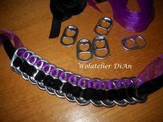 Weblog Wolatelier Dian: Bespaartip 10: Armbandje van lipjes van blikjes - Recycling