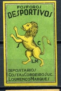 Old Matchbox Label from Macau Macao China Lion Lot 358 | eBay