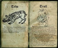 Magical beasts : Tebo and Troll. Made by : lost in Hogwarts Deviantart