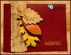 For All Things, Leaflets Framelits, Stampin' Up!, Katherine Macdonald