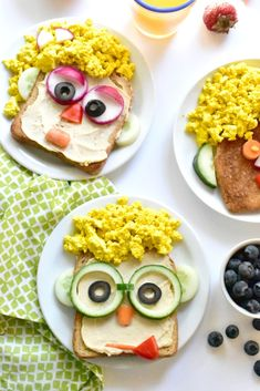 Make breakfast fun and goofy with these plant-powered Silly Breakfast Toast Faces. Full of nutritious and good-for-you ingredients! Cute Breakfast Ideas, How To Make Breakfast, Breakfast For Kids, Breakfast Toast, Best Breakfast, Breakfast Recipes, Toddler Meals, Kids Meals, Cute Food