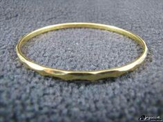 "»Only $3.50« Gold Tone Marked ""Monet"" Bangle Bracelet *SHIPPING*"