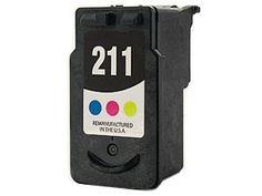 Remanufactured CANON Tri-Color CL211 CL-211 Printer Ink Cartridge for Canon Printers PIXMA iP2702 MP240 MP250 MP270 MP280 MP480 MP490 MP495 MX320 MX330 MX340 Wireless MX350 Wireless