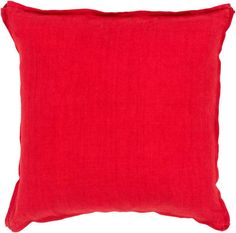 Surya SL-007 Square Indoor Decorative Pillow with Down or Polyester Filling from 20 x 20 Polyester Filler Home Decor Pillows Pillows