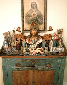 I LOVE this. I wonder how difficult it would be to get my hands on all these cool vintage Catholic pieces.