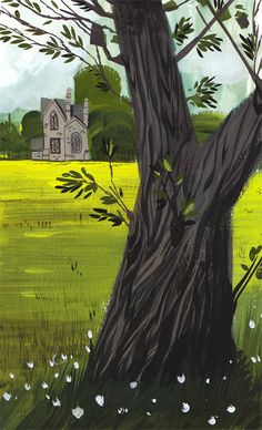 Matthew Cruickshank. #church #tree #landscape