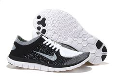 Nike Free Flyknit 4.0 Unisex Running Shoe Black Gray White Clothing, Shoes & Jewelry : Women : Shoes : Nike http://amzn.to/2lCFtE5