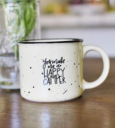 Graphic Design - Graphic Design Ideas - Hand-Lettered Happy Camper Coffee Mug by Rachel Allene Photography + Lettering... Graphic Design Ideas : – Picture : – Description Hand-Lettered Happy Camper Coffee Mug by Rachel Allene Photography + Lettering… -Read More –