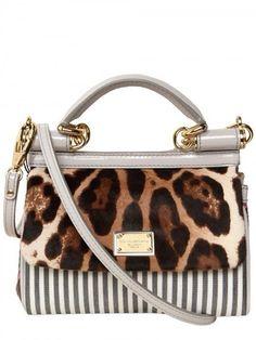 DOLCE GABBANA   leopard bag  =
