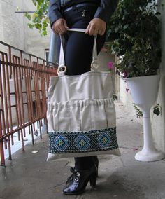 Market Bag, Linen Tote Bag, canvas tote bag with Ukrainian embroidery. Ready to Ship! by GutsulkaBeauty on Etsy