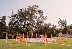 May Pole ceremony decor (photo by Elizabeth Messina)