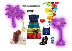 """Mr. Saxobeat"" by le-piano-argent ❤ liked on Polyvore featuring Mary Katrantzou, River Island, Mulberry, Kevin Jewelers and Vince Camuto"