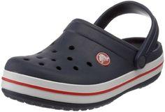 Crocs Crocband - Zuecos con correa infantiles, color azul, talla 25