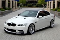White BMW M3 e92 with Black features...
