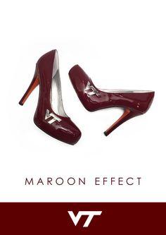 Hokie Heels - Virginia Tech Chelsea - Maroon Effect