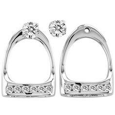 Stirrup earrings! Too cute. want!!  www.thewarmbloodhorse.com